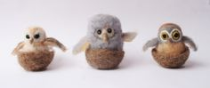Needle Felting hooty owl tutorial from Laura Lee Burch Needle Felted Owl, Needle Felting Kits, Needle Felting Tutorials, Wet Felting, Wooly Bully, Waldorf Crafts, Felt Birds, Felt Owls, Owl Crafts