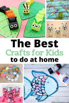 THE BEST CRAFTS FOR KIDS - The excitement of playing video games, and running around the house celebrating no school has suddenly worn off in our home. It's begun to sink in that this extended time at home means limited access to other things. Here's a round-up of 20+ crafts for kids to do at home. #bestcrafts #craftsforkids #kidscrafts #artsandcrafts #forkids #boredombusters
