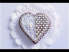 Lace Heart Cookie - YouTube
