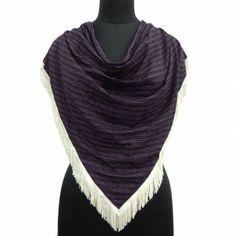 Black Scarf Beach Wear Triangular Stole Rayon Lycra Striped Pattern New Wrap Fashion Accessories, Stylish, Shawls, Beach, Pattern, How To Wear, Blue, The Beach, Patterns