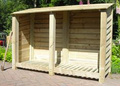 Rustic Treated Wooden Log Store by charmedwooduk on Etsy, £130.00. We need one of these.