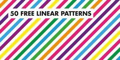50 free linear patterns on Behance