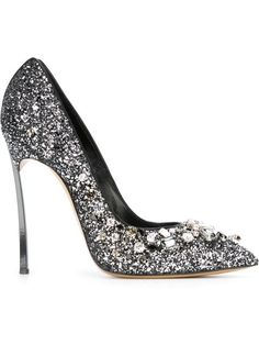 Shop Casadei embellished glitter pumps  in Biondini Paris from the world's best independent boutiques at farfetch.com. Shop 300 boutiques at one address.