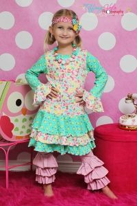 Tessa's knit T-shirt dress or top PDF sewing pattern from Create Kids Couture!
