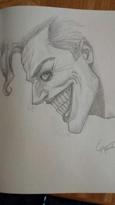 The joker drawing  (by me) www.everettaldrich.com