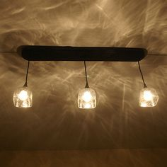 Hand Crafted Upcycled Three Pendant Patron Pool Table Light made from recycled Patron Bottles