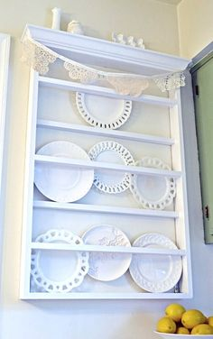 Wall Mount Display Plate Rack | My husband and I designed it, and he built it for me for Mother's ...