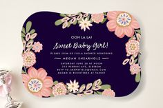 Sweet Baby Girl Baby Shower Invitations by Chris Griffith at minted.com
