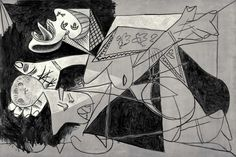 """""""Mother with Dead Child II, Postscript to Guernica,"""" one of 38 works in """"Picasso Black and White"""" at the Guggenheim. Credit Estate of Pablo Picasso/Artists Rights Society (ARS), New York Picasso Sketches, Picasso Drawing, Picasso Art, Picasso Paintings, Abstract Paintings, Picasso Prints, Indian Paintings, Abstract Oil, Oil Paintings"""