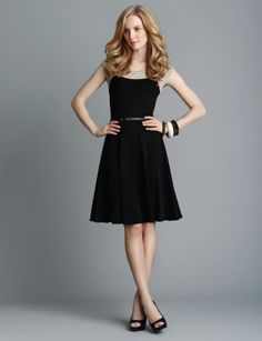 I love A-line skirts.  Very flattering for the waistline.  I also like skirts that just barely touch the knees.  Pretty!