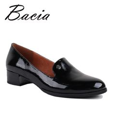 Bacia Shoes Genuine Leather Flat shoes Round Toe Slip-on Casual Handmade  Women Shoes Flexible 3af1360bf8f3