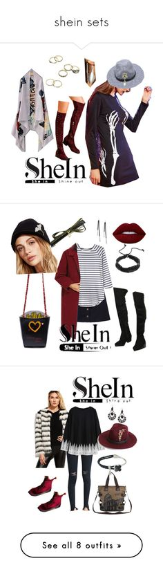 """""""shein sets"""" by bluehatter ❤ liked on Polyvore featuring Lime Crime and Home Decorators Collection"""
