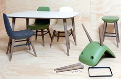 Sillas muy originales, las quiero. Chairs very original, I love