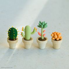 Fimo cactus by {JooJoo}, via Flickr Clay plants...for the not-so-green-thumb person in your life