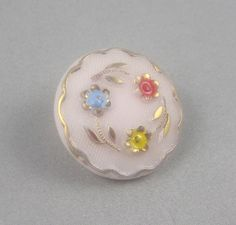 Vintage Hand Painted Button