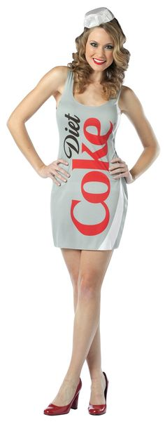 Would be a cute couples costume with the coke can as the boyfriend.