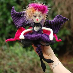 Fantasy Fairy Doll OOAK (One of a Kind) Handknitted Craft Fantasy Fairy Knitted  Doll. £45.00, via Etsy.