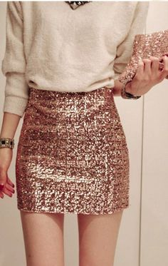 Slim Sequined Skirt