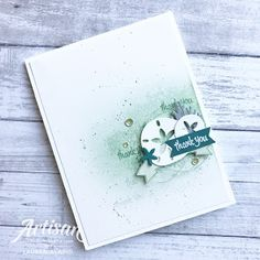 Sea Of Textures Ink Blended Background Thank You Card
