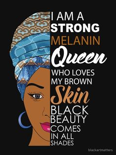 Strong Black Melanin Queen by blackartmattersYou can find Black women art and more on our website.Strong Black Melanin Queen by blackartmatters Black Love Art, Black Girl Art, My Black Is Beautiful, Black Girls Rock, Black Girl Magic, Black Girls Power, Black Power, Black Girl Quotes, Black Women Quotes