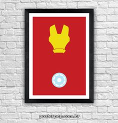 Poster Homen de Ferro Minimalista