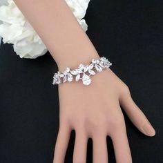 Bridal bracelet Rose Gold Wedding bracelet by TheExquisiteBride