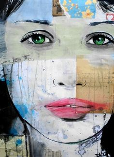 "Saatchi Online Artist Loui Jover; Assemblage / Collage, ""fragments"" #art, pined from Réka Loretta Verebélyi"