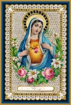 French holy card