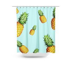 This beautiful and elegantly bright Pineapple Delight shower curtain will make your bathroom look amazing and make you feel like you are on a tropical vacation. This is the perfect accessory for any b