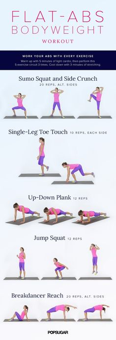 Let your own bodyweight sculpt your midsection. This core workout is super…