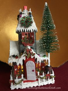Christmas house for sale - Join in the donation campaign for the project Hamburger Engel and become Christmas Town, Christmas Villages, All Things Christmas, Christmas Crafts, Xmas, Christmas Ornaments, Holiday, Decoration St Valentin, Easy Crafts To Sell