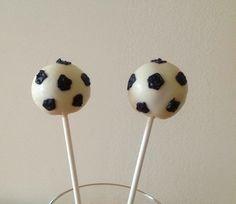 Soccer ball cake pops