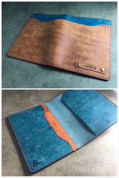 Tan Leather, Leather Wallet, Leather Tooling, Leather Projects, Leather Crafts, Jayco Travel Trailers, Name Card Holder, Duo Tone, Road Trip Essentials
