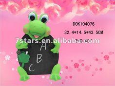 Standing ceramic frog blackboard with chalk set ,children gift $3.55~$3.75