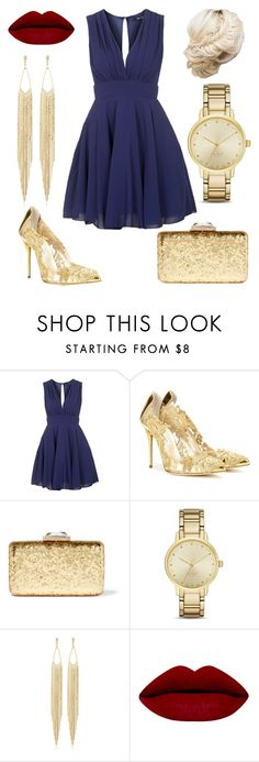 """Navy Inspired Cocktail Outfits"" by laurenbrennan on Polyvore featuring TFNC, Oscar de la Renta, KOTUR, Kate Spade, Panacea, women's clothing, women, female, woman and misses"