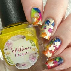 """Before I finish with my PR work for PPU items, I thought I would share a """"just for fun"""" mani I did last week! I submitted this one to the… Autumn Nails, Just For Fun, It Is Finished, Fall Nails, Spring Nails"""