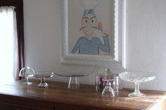 La mia amata madia con le alzatine e il quadro del cuoco