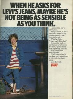 Old school Levi's print ad #heart