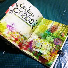 Mixed Media Art Journal - Calm After Chaos