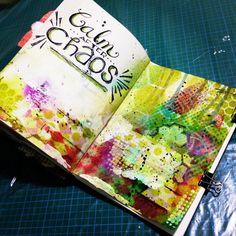 Mixed Media Art Journal - Calm After Chaos | Jenn Garman