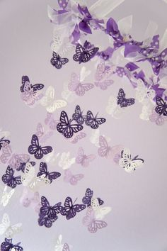 Purple Butterfly On Baby Crib In Hospital.Purple Butterfly Stickers Help NICU Parents With Infant . If You See A Purple Butterfly Sticker At A Hospital You . Home and Family Purple Nursery Decor, Baby Girl Nursery Decor, Baby Room Decor, Nursery Room, Nursery Ideas, Room Ideas, Bedroom Decor, Butterfly Mobile, Purple Butterfly