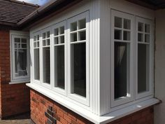 Grained White Residence 9 Bay Window by Central Windows Ltd