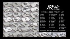 INKTOBER SKETCHBOOK TOUR 2020 | INKTOBER 2020 DRAWINGS & PAINTINGS | INK...