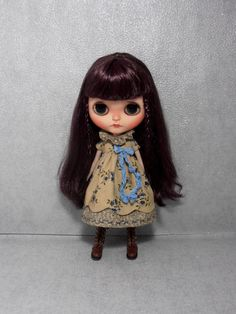 Blythe Dress Vintage Inspired Flower Scalloped Edge Blythe