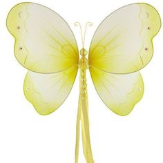 The Butterfly Grove Briana Butterfly 3D Wall Decor Size: Medium, Color: Yellow Daffodil