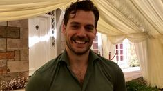 """Giddy and excited to get me alone under that canopy for a """"personal"""" discussion aren't you Cavill...lol!!! ;)"""