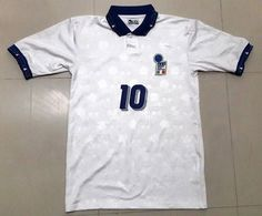 0ad9a367e Italy BAGGIO  10 World Cup 1994 AWAY Football Shirt Soccer Jersey L   WorldCup  Italy