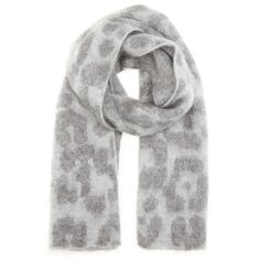 Stella McCartney - Printed mohair and wool-blend scarf - This mohair and wool-blend scarf from Stella McCartney is an oh-so chic way to keep warm this season. The grey animal-printed design is super cosy and stylish for those days when you need to brave the cold. Keep in line with the label's aesthetic and style yours with a boxy woollen coat. seen @ www.mytheresa.com