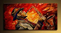 The joy of music - Oil Painting