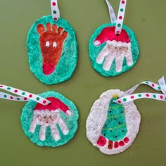 I couldn't celebrate Harrison's first Christmas without doing something crafty to commemorate it. I thought salt dough ornaments would be a...